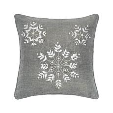 C&F Home Silver Snowflake Pillow