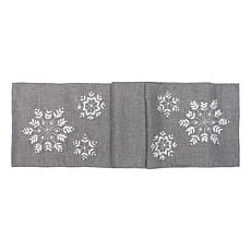 C&F Home Silver Snowflake Table Runner