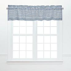 C&F Home Ticking Stripe Navy Valance 2-Pack