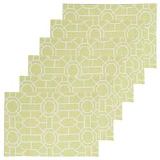 C&F Home Trellis Peridot Cotton Placemat Set of 6
