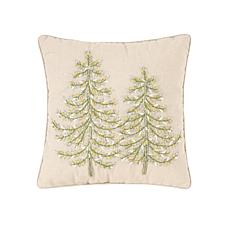 C&F Home Winter Garden Ribbon Art Tree Pillow