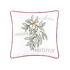 C&F Home Winter Mistletoe Pillow