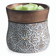 Candle Warmers Etc. Bronze Floral 2-in-1 Deluxe Wax Warmer