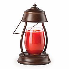 Candle Warmers Etc. Rustic Brown Hurricane Candle Warmer Lantern