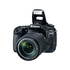 Canon EOS 80D 24.2MP Digital SLR Camera w/18-135mm Lens and Software