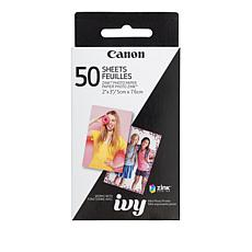 "Canon ZINK 50-pack 2"" x 3"" Photo Paper for IVY Photo Printer"