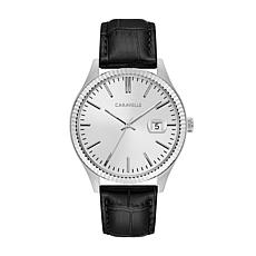 Caravelle Men's Coin-Edge Black Watch