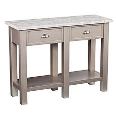 Caris Faux Marble Rectangular Console Table - Gray