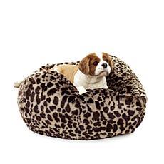 Carolina Pet Large Faux Fur Puff Ball Pet Bed