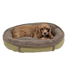 Carolina Pet Sm Faux Suede & Tipped Berber Comfy Cup with Memory Foam