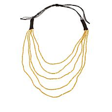 "Caroline Hill Beaded 5-Strand Bead and Cord 28"" Necklace"