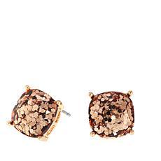 "Caroline Hill ""Bellino"" Cushion-Cut Glitter Stone  Stud Earrings"