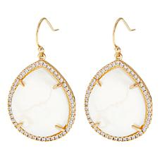 "Caroline Hill ""Elia"" Teardrop Pavé Dangle Earrings"