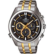 Casio Edifice 2-Tone Men's Neon Illuminator Chronograph Watch