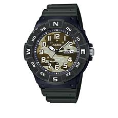 Casio Men's Dive-Style Green Strap Watch