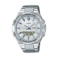 Casio Men's Multi-Function Stainless Steel Watch, Silver Dial