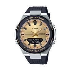 Casio Men's Multi-Function Watch, Black/Gold