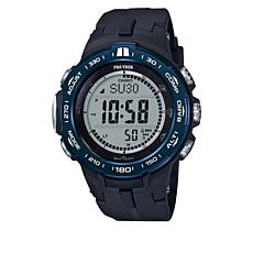 Casio Men's Pro Trek Solar-Atomic Triple Sensor Black/Blue Watch