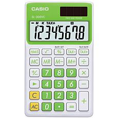 Casio Solar Wallet Calculator, 8-Digit Display/Green