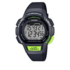 Casio Women's Digital 60-Lap Runner's Watch - Black