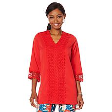 Caya Costa Crochet Trim Tunic