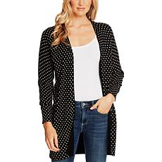 CeCe Polka-Dot Long Cardigan