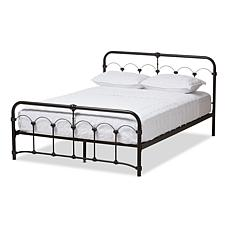 Celeste Black Metal Full-Size Platform Bed