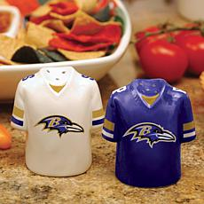 Ceramic Salt and Pepper Shakers - Baltimore Ravens