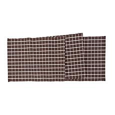 CF&F Home Windowpane Cocoa Table Runner