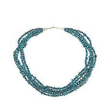 Chaco Canyon 5-Strand Shell & Turquoise Beaded Necklace