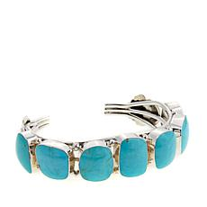 Chaco Canyon 7-Stone Kingman Turquoise Cuff Bracelet