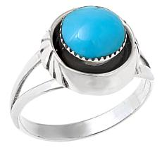 Chaco Canyon Blue Kingman Turquoise Ring