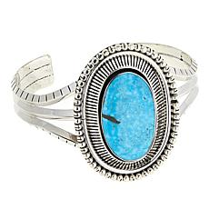 Chaco Canyon Blue Kingman Turquoise Statement Cuff Bracelet