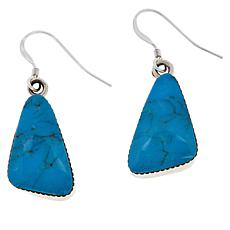Chaco Canyon Sterling Silver Freeform Gem Contemporary Drop Earrings