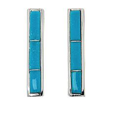 Chaco Canyon Sterling Silver Gemstone Bar Post Earrings