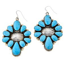 Chaco Canyon Sterling Silver Kingman Turquoise Cluster Earrings