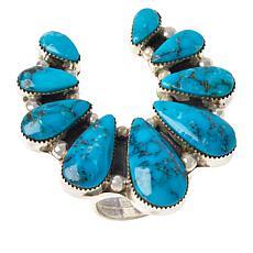 Chaco Canyon Sterling Silver Kingman Turquoise Naja Ring