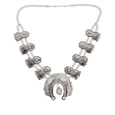 Chaco Canyon Sterling Silver Squash Blossom Necklace