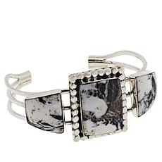 Chaco Canyon Sterling Sliver White Buffalo Howlite Cuff