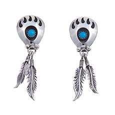Chaco Canyon Turquoise Bear Claw Earrings