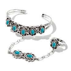 Chaco Canyon Turquoise Princess Cuff Bracelet and Ring