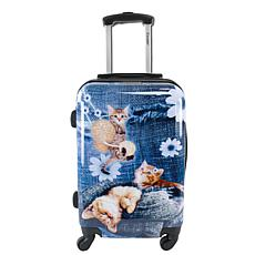 Chariot 20-inch Hardside Carry On Luggage - Denim Kitty