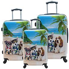 Chariot 3-piece Hardside Luggage Set - Kona
