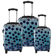 Chariot 3-piece Hardside Luggage Set - Ombre Dot