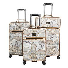 Chariot Map 3-piece Hardside Luggage Set