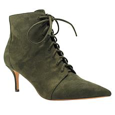 Charles David Lace-Up Faux Suede Bootie