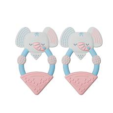 Cheeky Chompers Animal Teether Value 2-Pack - Elephant