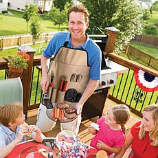 Chefs Kitchen Outdoor 7-Piece BBQ Apron and Utensil Set
