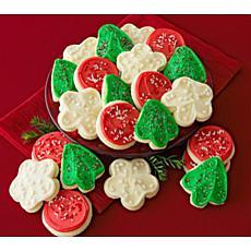 Cheryl's Cookies 24-piece Holiday Cutout Cookies