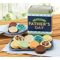 Cheryl's Father's Day 12-Piece Frosted Cookie Tin